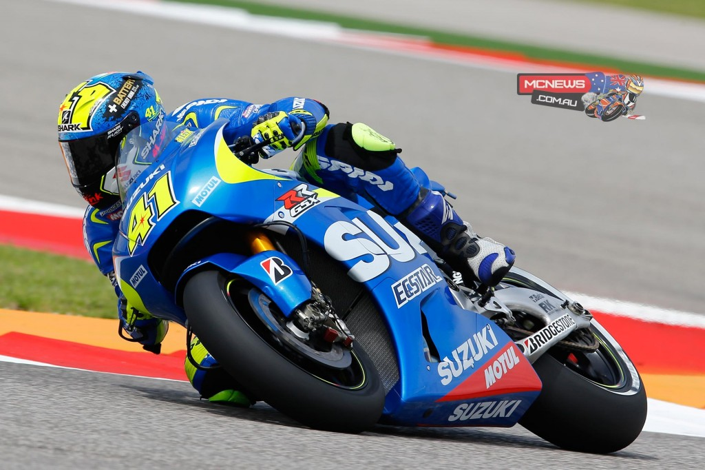 """Aleix Espargaro:  """"I'm happy for the final position; like in Qatar I finished the early sessions with a virtual position near the top which is good, but overall this has not been a fully satisfying day. This morning we had to start from zero with the rain since we have no experience in the wet. I feel the bike is performing well, but we still have a huge amount of work to do for the final set-up and on my own I still have a lot to learn about how the bike behaves and reacts. In dry conditions we have much more experience, but I have been having the same chatter problem on the rear that we had in the Qatar race. We need to further investigate this and fix it. We will see how the weather develops tomorrow. Today's fourth place is a good starting point and we can now concentrate on finding the best feeling with the bike."""""""