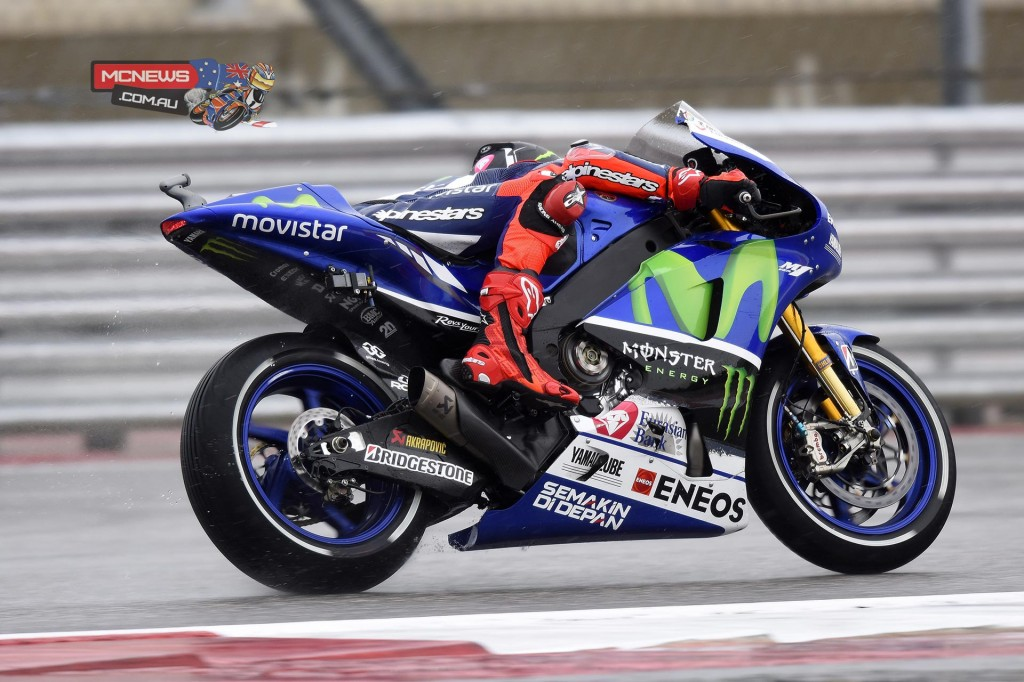 """Jorge Lorenzo - 11th - 2'06.174 - 11 laps """"Today was a very difficult day for me. Since this morning I feel pretty bad. I didn't feel comfortable with either the bike or myself. My physical condition today it's not good, I got a cold and today I started on antibiotics because I feel sick. I couldn't work in a normal way; I feel weaker due to the cold. The doctors told me it's bronchitis and I suffer a lot when riding the bike. We have a lot of work to do with the machine but first of all I need to recover. Hopefully tomorrow it will be better with all the treatments. I'm so sorry because today we couldn't improve the pace and I couldn't be competitive.""""  COTA MotoGP"""