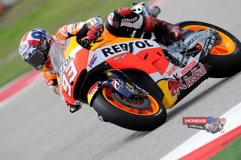 Marc Marquez masters mixed conditions to lead Friday COTA MotoGP