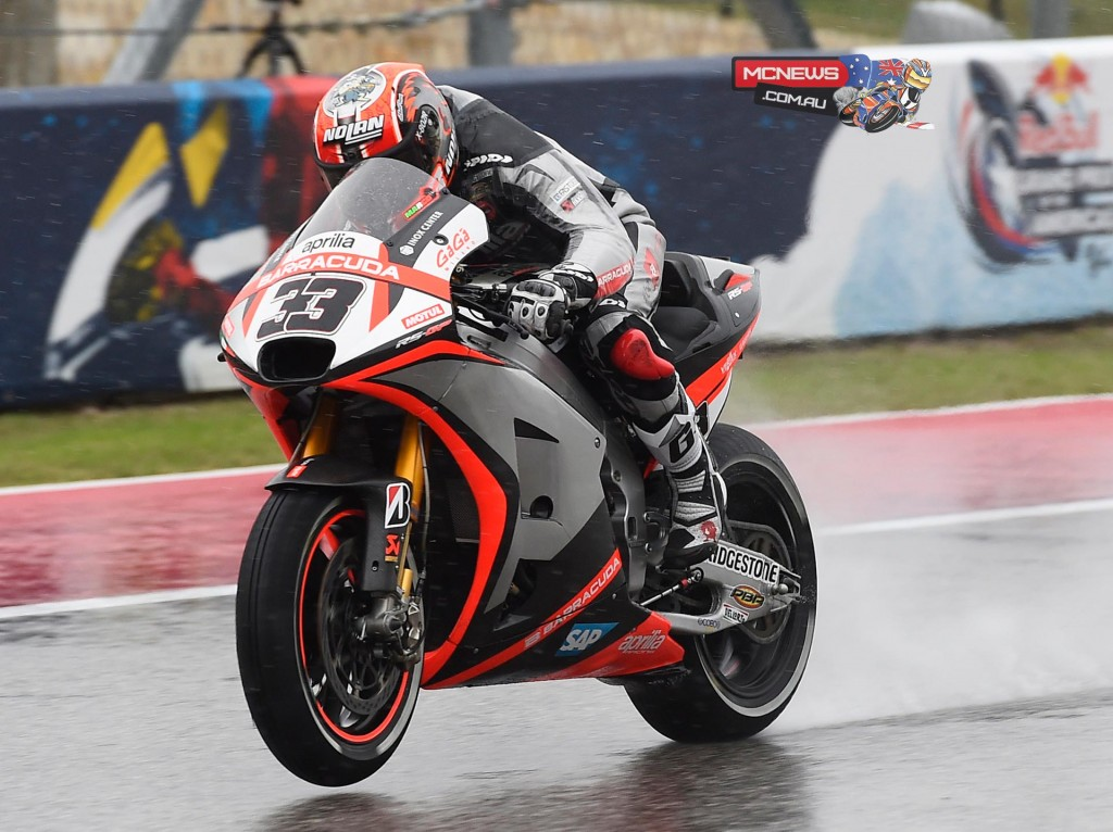 """Marco Melandri - """"Two very different sessions because of the weather. On my bike we're exploring some rather different electronics solutions and my performance is suffering because of that. But on the other hand, we don't want to leave anything untried to recover that feeling and confidence in the bike that I need in order to push the way I'd like to. There is still a lot of weekend ahead and we have a lot of work to do."""""""
