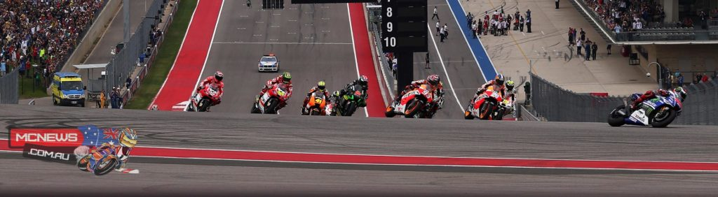 Start of the 2014 Grand Prix of the Americas COTA