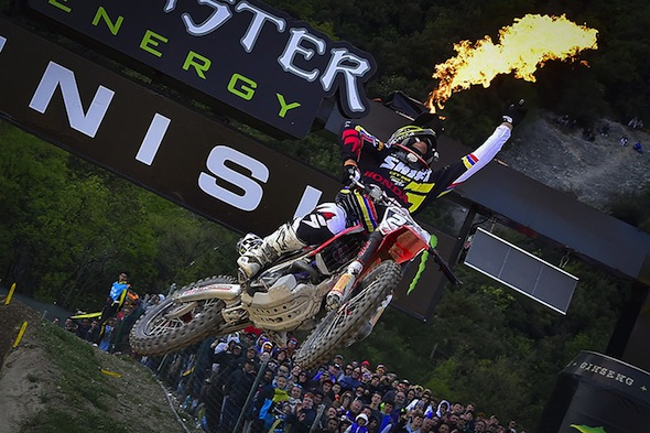 Tim Gajser got his first GP win in Italy