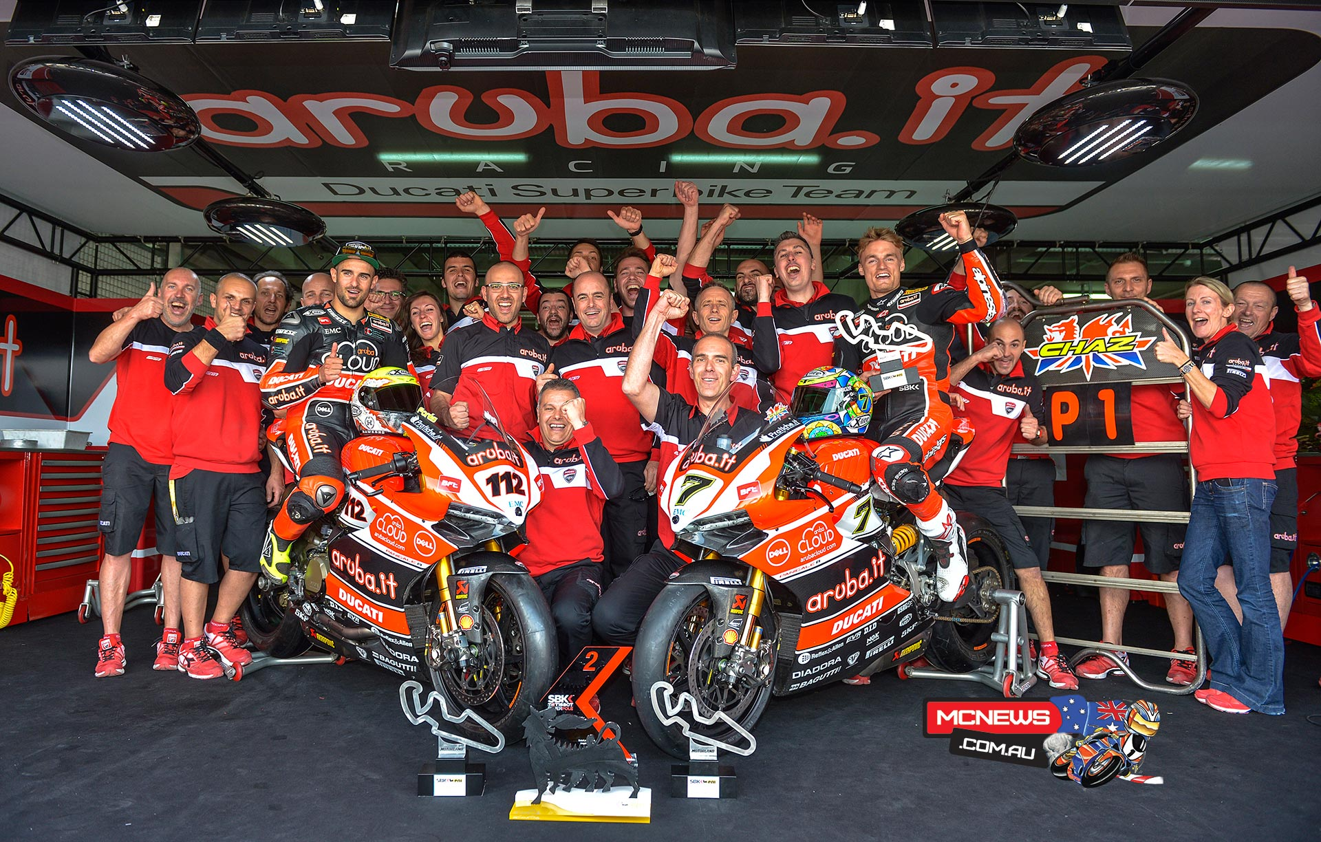 """Ernesto Marinelli – Ducati SBK Project Director – """"Today is a really important day for us. The first win for the Panigale in World Superbike is a significant milestone that goes a long way towards repaying the great work carried out by all of the guys in Borgo Panigale who, with dedication, passion and commitment have worked tirelessly over these last two years without a victory. The first thank-you therefore goes to all of their hard work: """"Well done"""". Chaz was superb and in race 2 he rode perfectly to give us this first victory. He only just missed out in race 1 but in race 2 he won by a clear margin, demonstrating all of our bike's potential as well as his great talent. The entire team has worked well, as ever, and Xavi's results are also very positive. Now we must continue in the same direction to ensure that this is the first of many."""""""