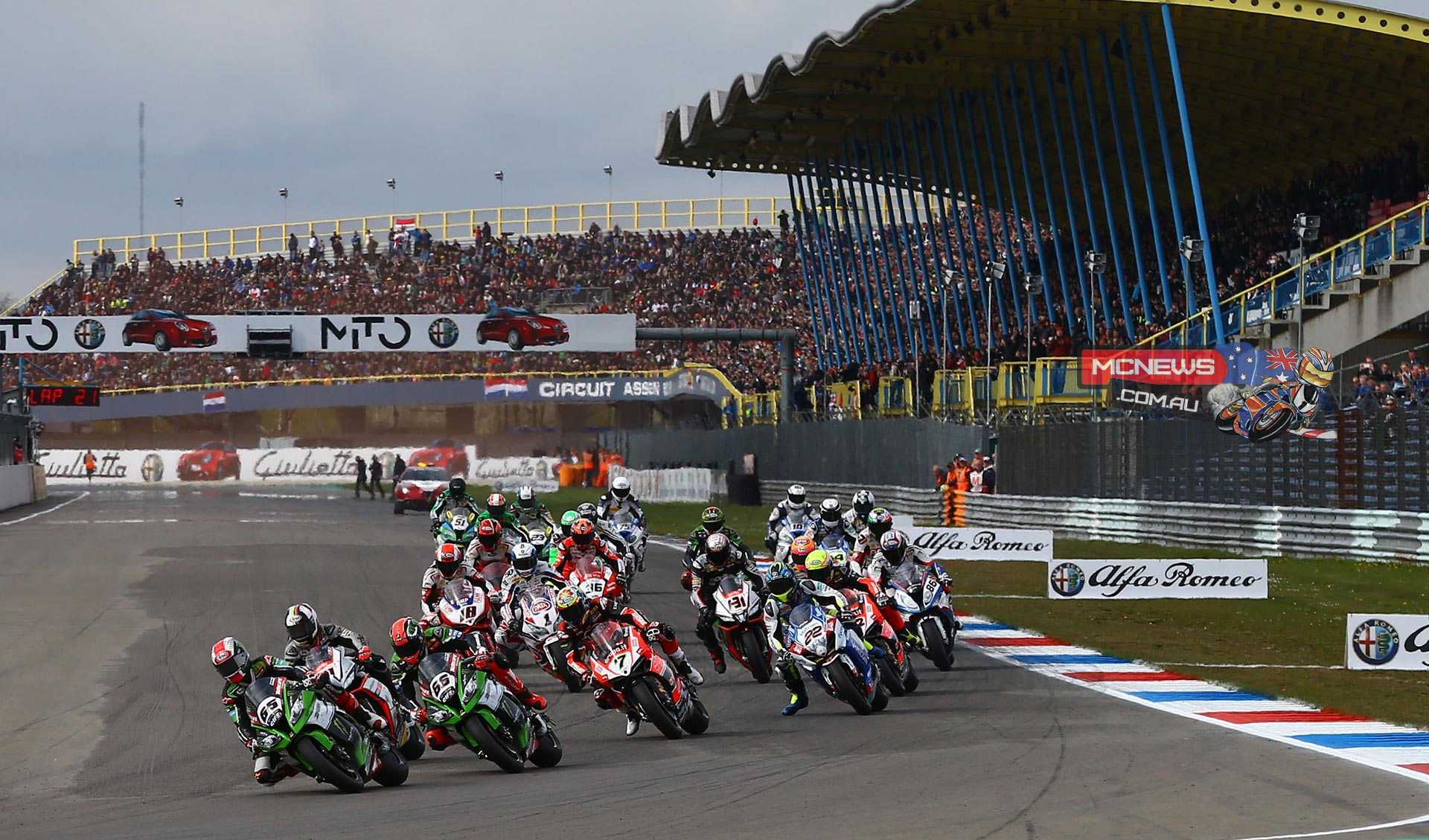 World Superbike Assen 2015 Race Start