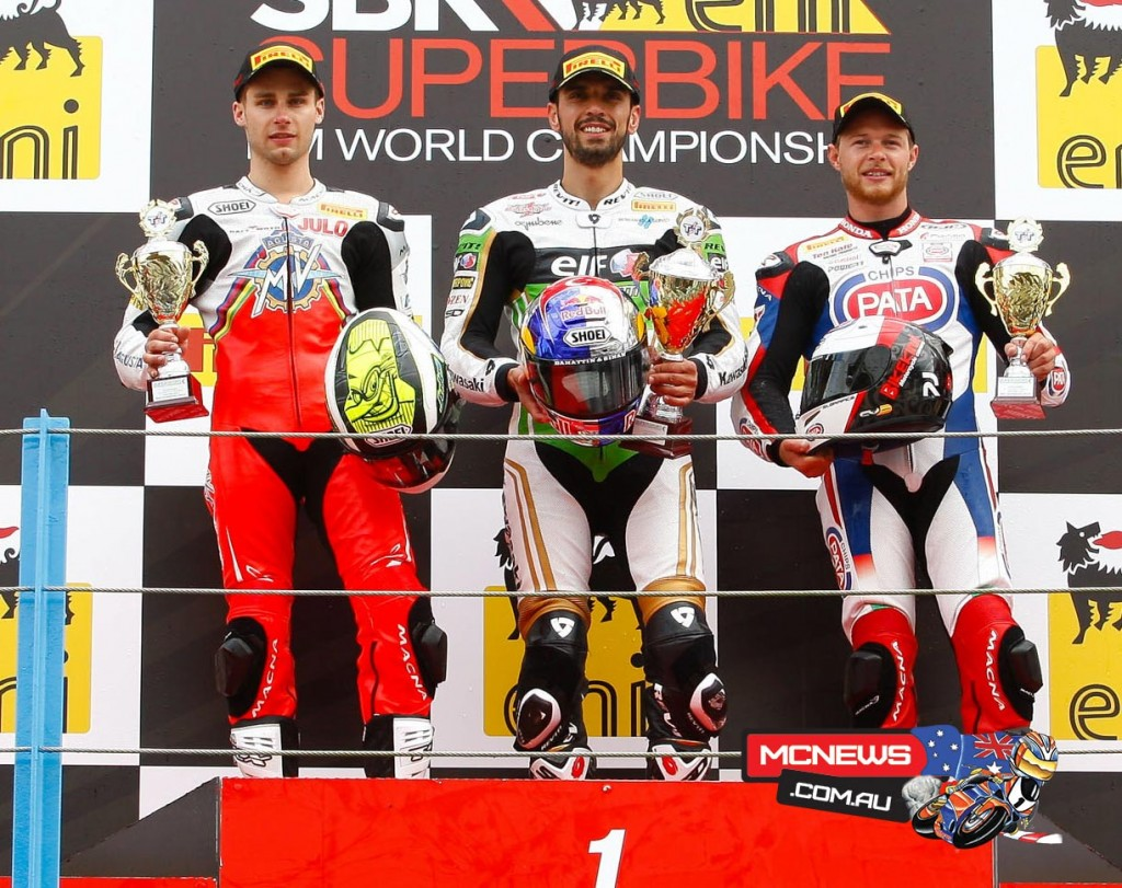 World Supersport Assen 2015 Podium