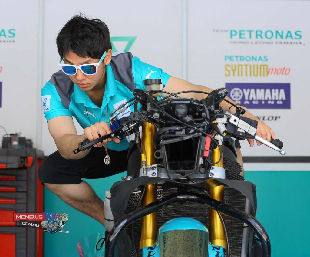 Yuki Ito of Patronas Hong Leong Yamaha at the ARRC-pre-season test in Sepang