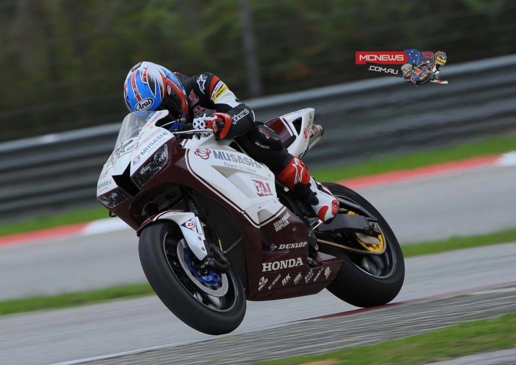 Zamri Baba was second quickest in the SuperSports 600cc pre-season test at Sepang