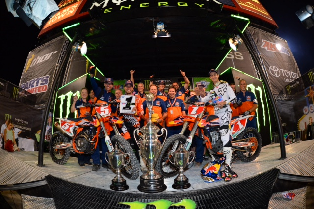 KTM celebrates two championships for 2015 -Photo Credit: Simon Cudby
