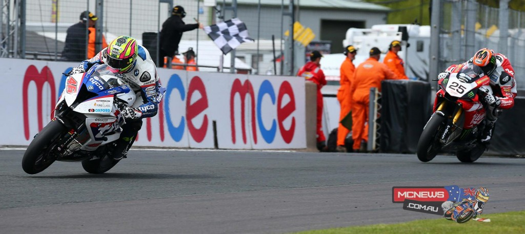 Tommy Bridewell beats Josh Brookes to the line in race one