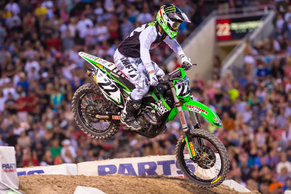 Chad Reed on the gas until a mechanical issue slowed his progress