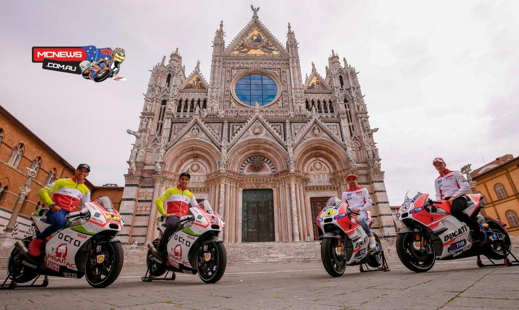 Octo Pramac Racing Team and Ducati Team at the Duomo di Siena