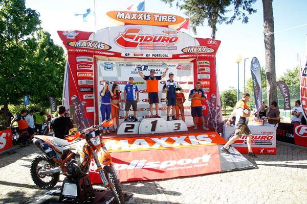The E1 podium Portugal EWC 2015