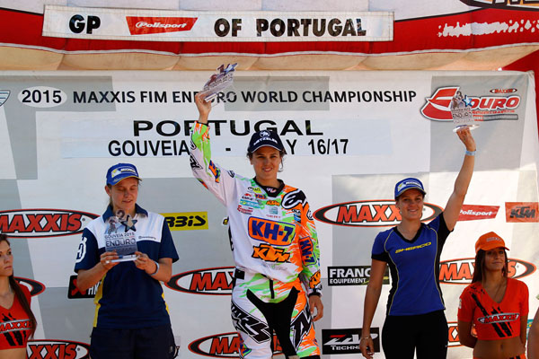 The Women's Podium at the Enduro World Championship round in Portugal