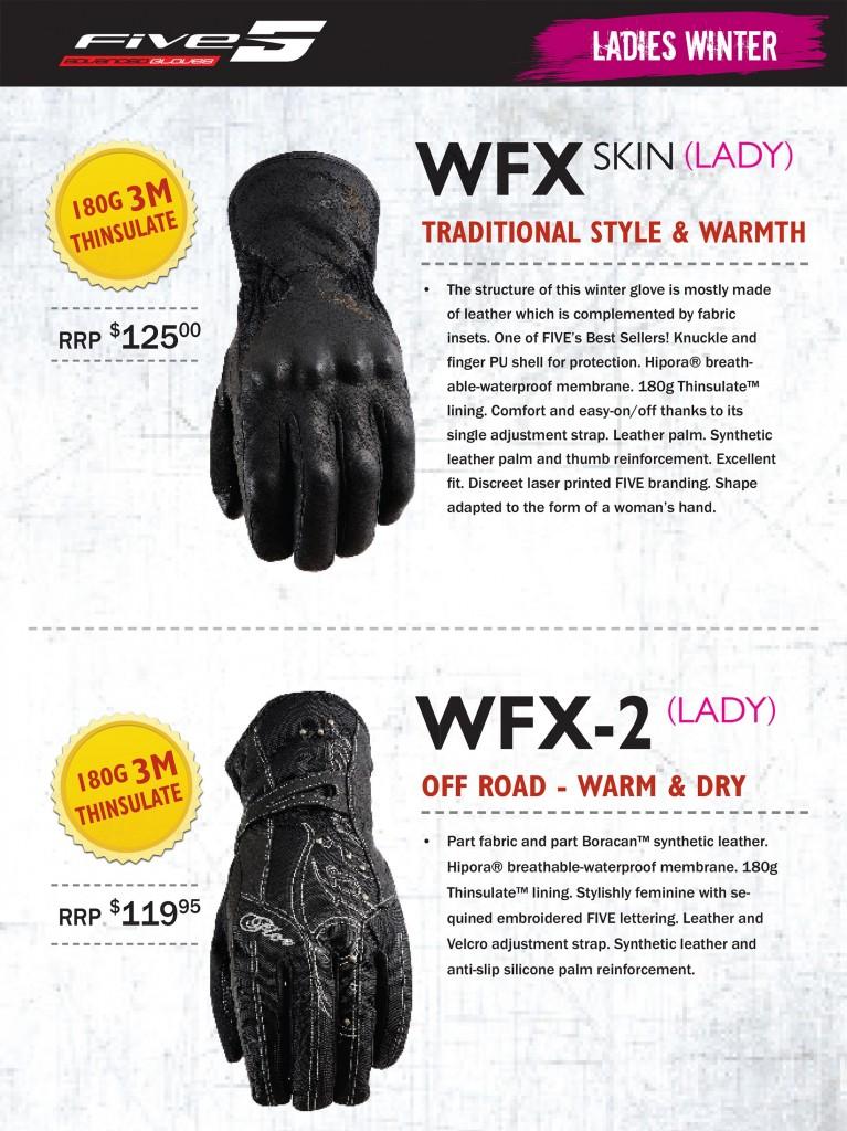 Five Winter Gloves