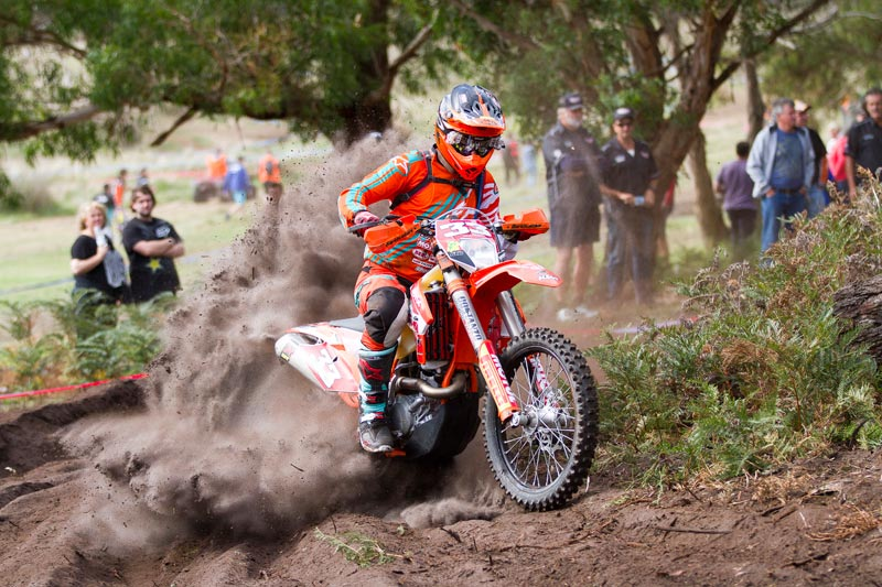 KTM's Geoff Braico will be looking to get amongst the lead pack in Rounds 5 and 6 of the 2015 Yamaha Australian Off-Road Championship at Karoonda this weekend