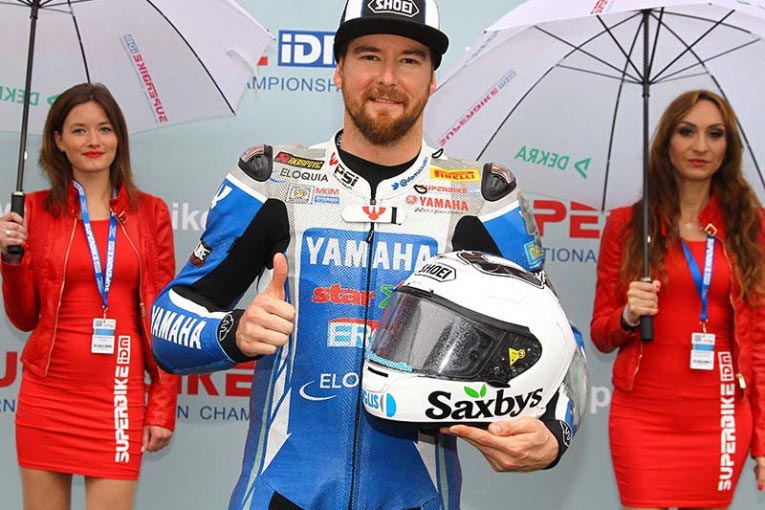 Damian Cudlin (Team Yamaha MGM) once again proved that Aussies are masters of the rain by taking the IDM Superbike Superpole at Zolder last weekend.