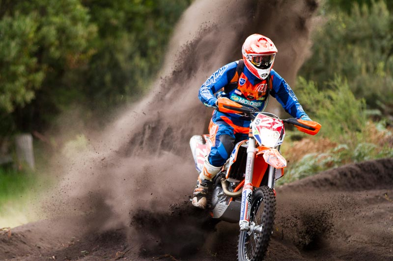 Ivan Long in action at Round 3 of the 2015 Yamaha Australian Off-Road Championship in Hedley last month