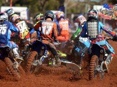 Bailey Coxon / Yamaha - 1st corner crash 2015 MX Nationals / Round 4 / MXD Australian Motocross Championships Murray Bridge SA Sunday 17 May 2015