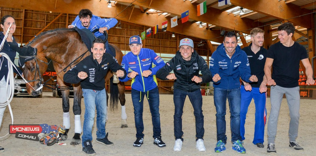 Riders spend some learning about horse vaulting