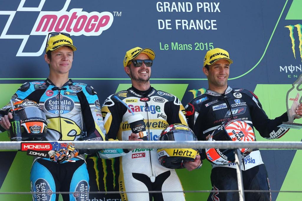 Moto2 Podium Le Mans MotoGP 2015