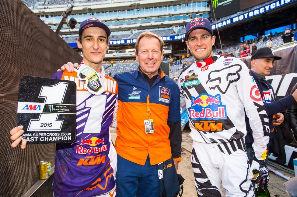 Marvin Musquin, Roger DeCoster and Ryan Dungey
