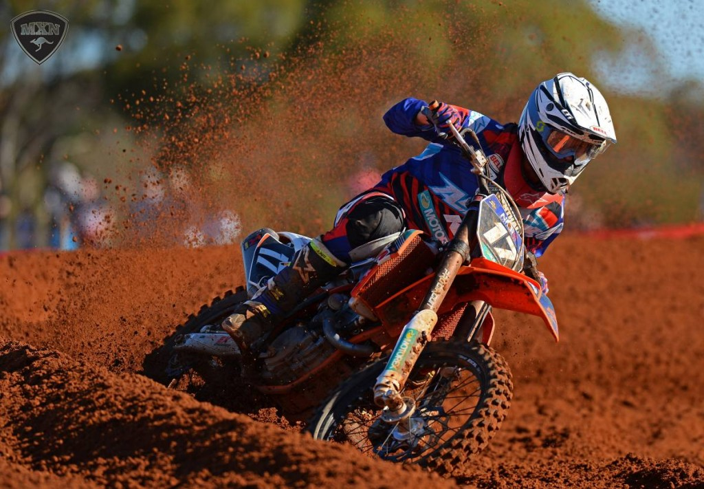 North Queenslander Caleb Ward swept both MX2 motos at Murray Bridge