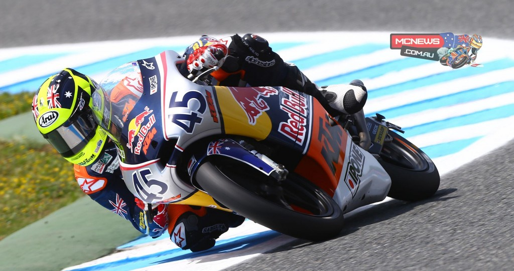 Olly Simpson at the Jerez Red Bull Rookies Cup season 2015 opener