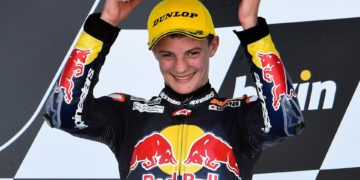 Olly Simpson took two podium results from the Jerez Red Bull Rookies Cup season 2015 opener