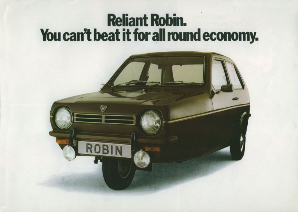 The Reliant Robin took three wheels to a new level of oddity - Editor Trev's disable uncle used to get around with one, as many disabled people did throughout the UK, the variants of the Reliant Robin fitted were often fitted with handlebars instead of a steering wheel