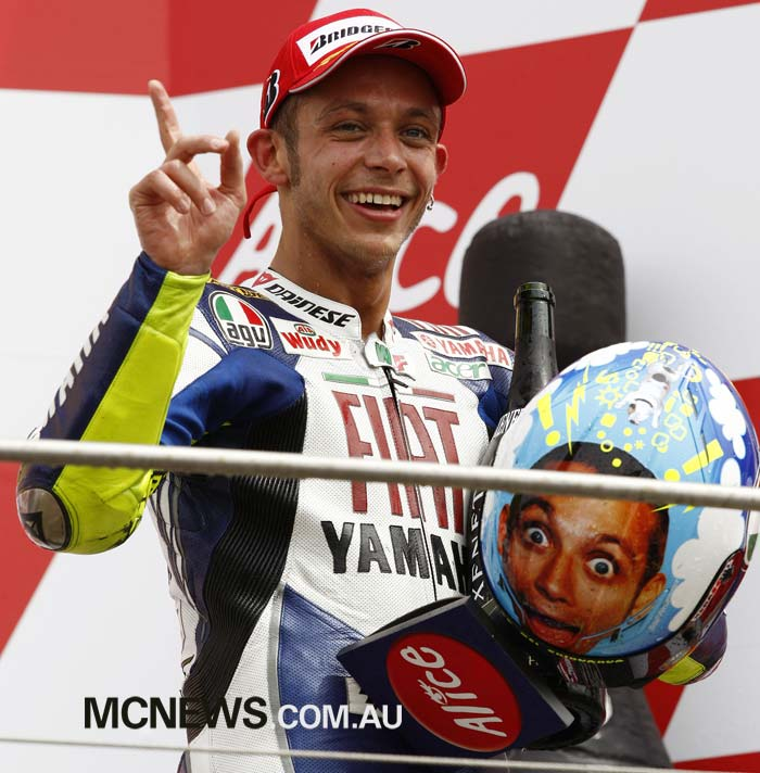 Valentino Rossi's last win at Mugello in 2008 - Previously he had claimed seven successive victories in MotoGP at Mugello.