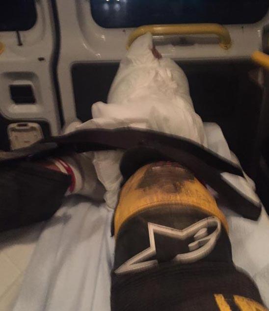Troy Bayliss injured at Sacramento Mile