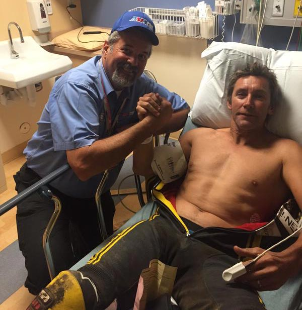 Troy Bayliss injured at Sacramento Mile