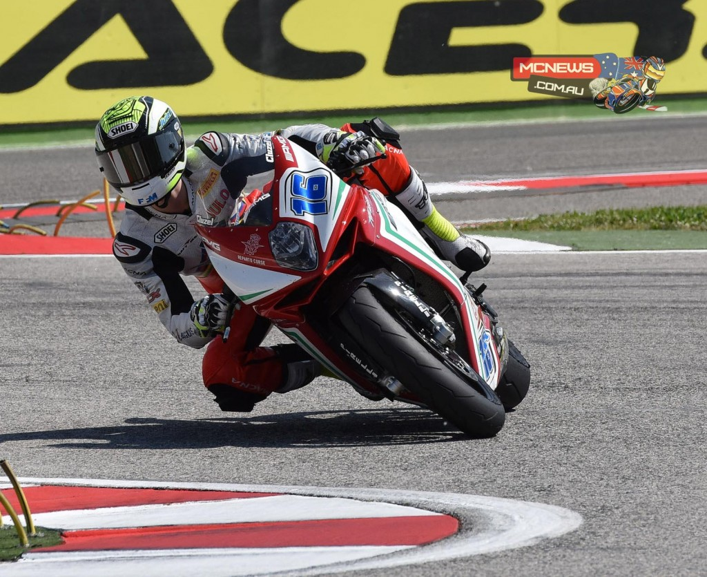 Jules Cluzel (MV Agusta Reparto Corse) his fourth Pole Position of the 2015 World Supersport championship