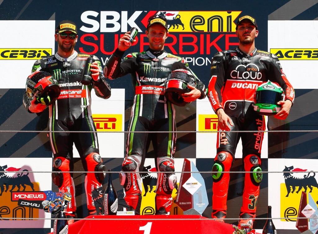 WorldSBK Imola Race One Podium