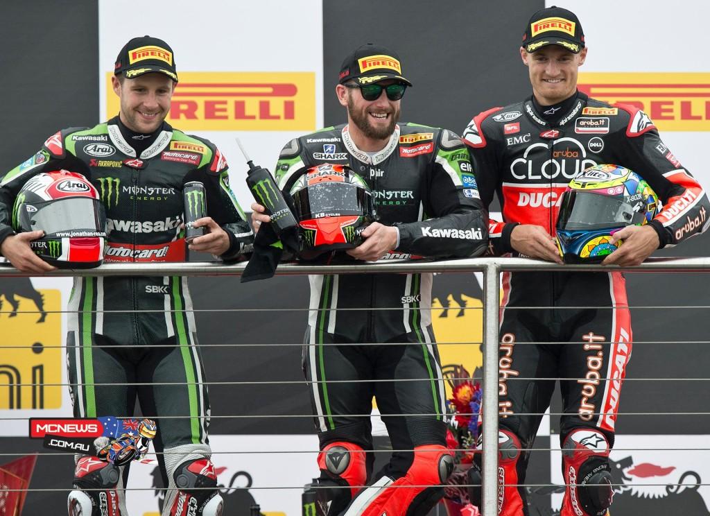 World Superbike Donington Race Podium