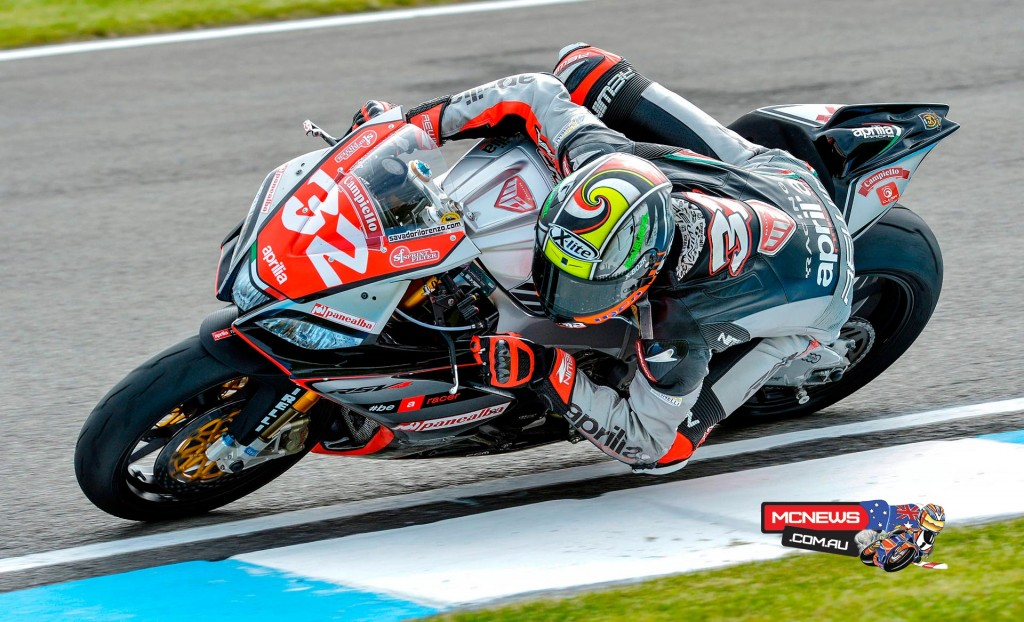 Lorenzo Savadori (Nuova M2 Racing Aprilia) has come out on top in the 15-lap, FIM Superstock 1000 Cup race at Donington Park