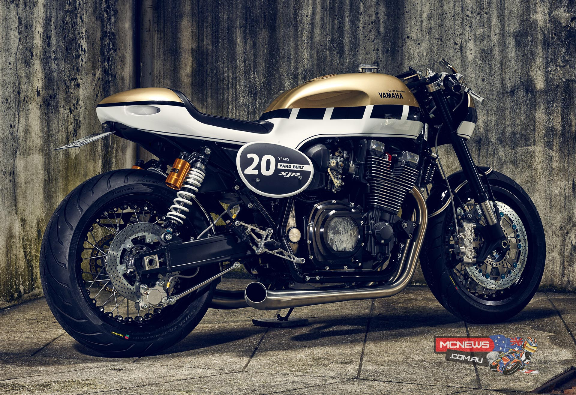 Yamaha XJR 20th Anniversary Continues with it roCks!bikes Yard Built 'CS-06 Dissident'