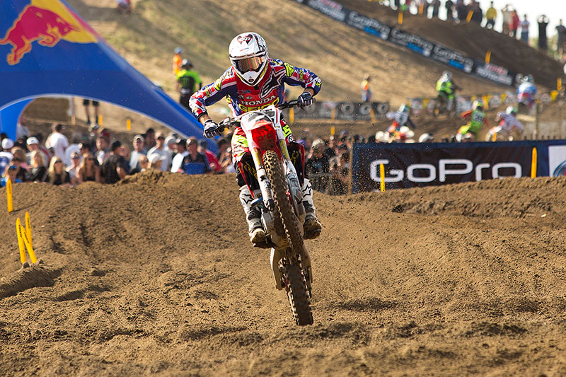 Tomac was dominant in Hangtown, going 1-1 for his second career 450 Class win. (Photo: Chris Ortiz)