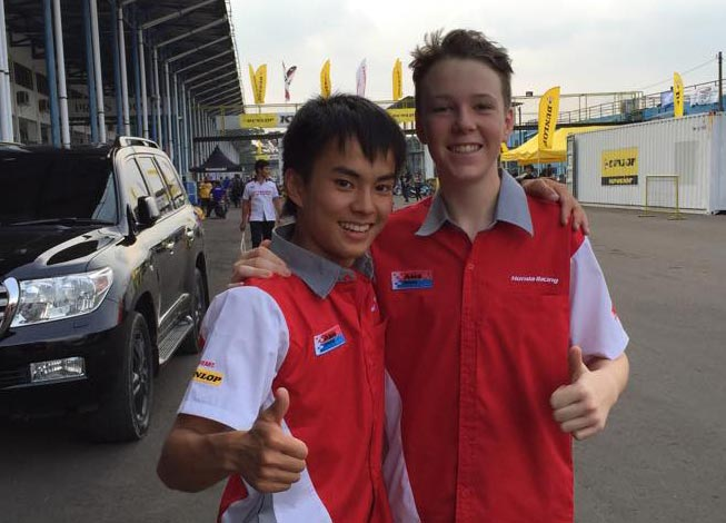 Young Australian Broc Pearson qualified 14th in the Asia Dream Cup before carding 10th and 13th place finishes in the two 10-lap races.
