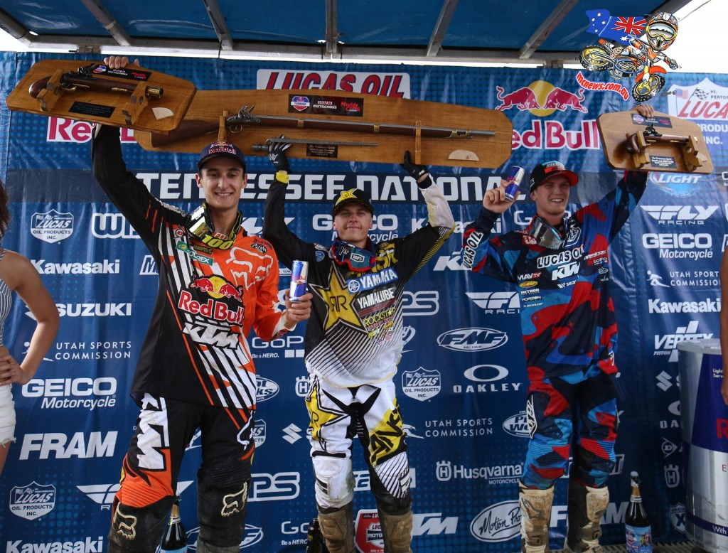 Musquin's resiliency in the final moto allowed him to secure second overall (1-4), while Nelson landed on the overall podium in third (3-2) for the second time this season.