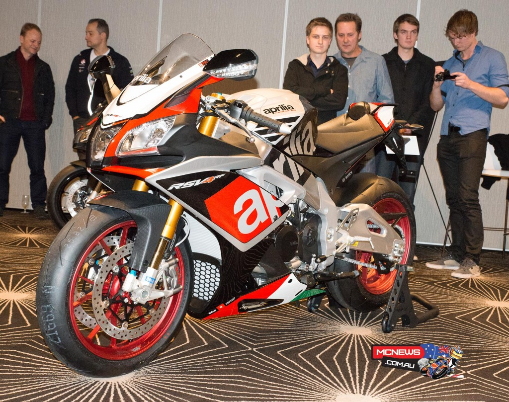 Aprilia RSV4 range reveal Melbourne 2015