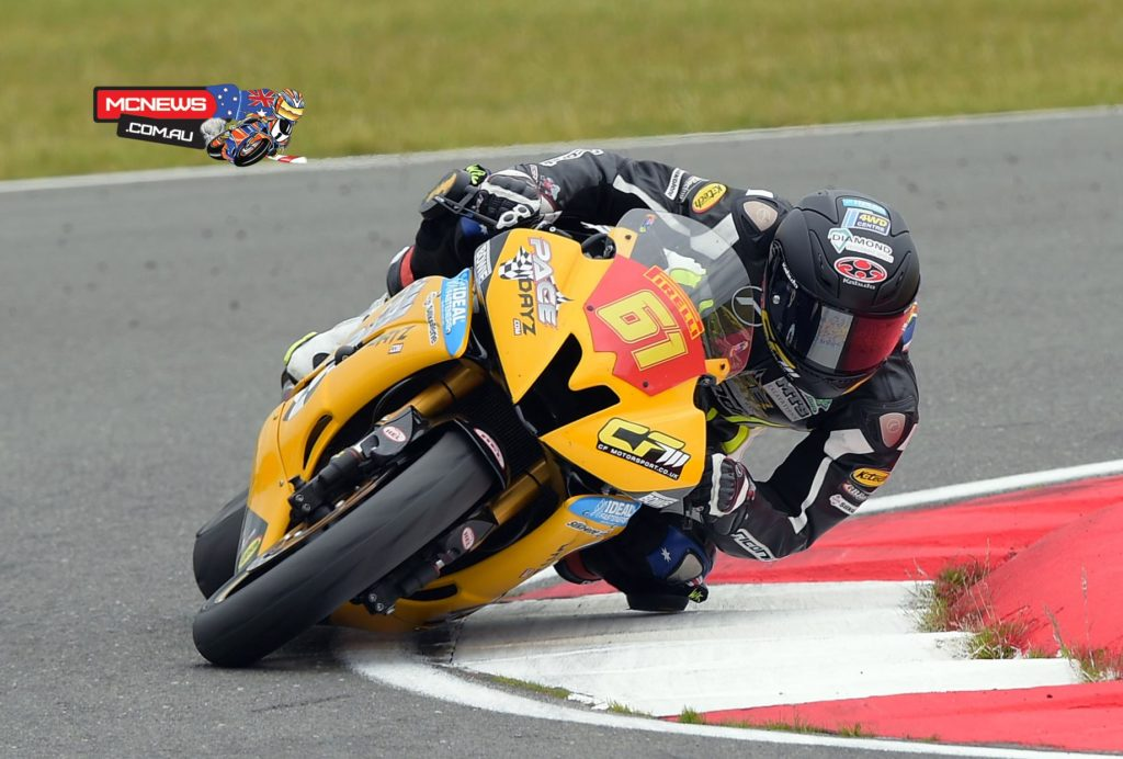 Benjamin Currie scored his first ever BSB win in Superstock 600cc at Snetterton