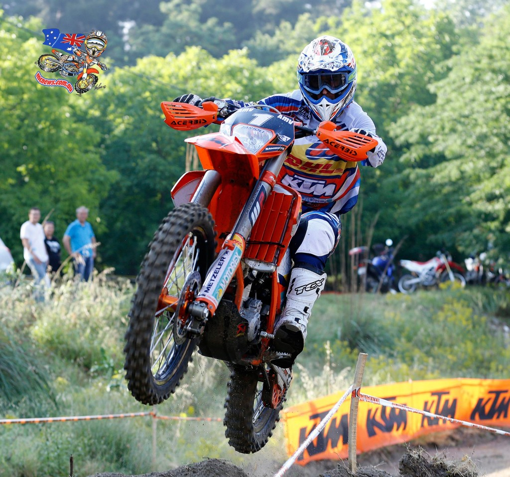 Christophe Nambotin had to settle for second in Enduro 1, and now leads Remes by only four points