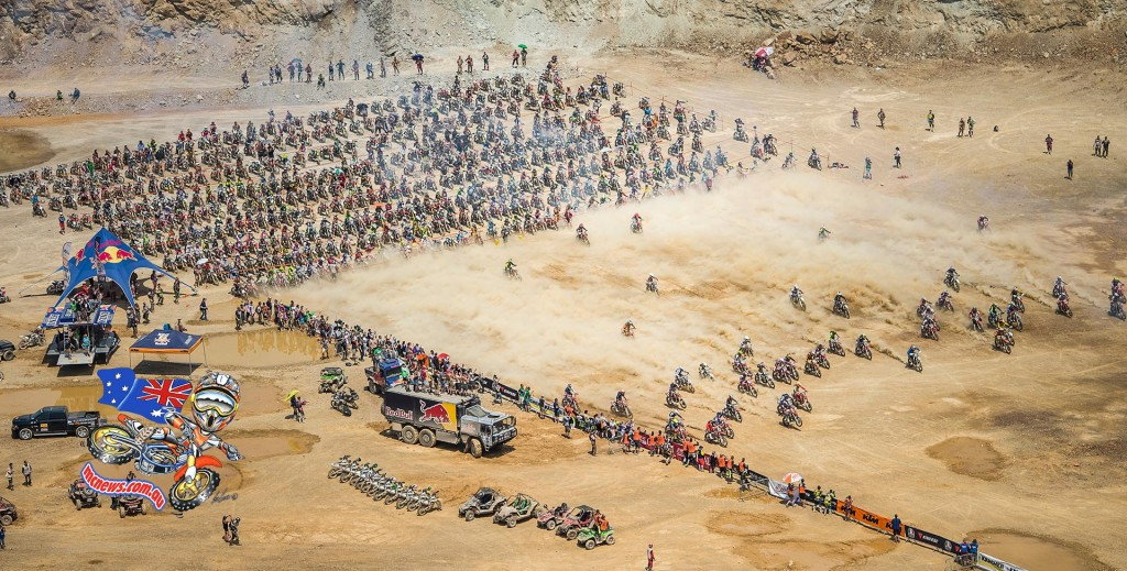 Some 500 starters lined up to contest the toughest one-day Hard Enduro on the sporting calendar