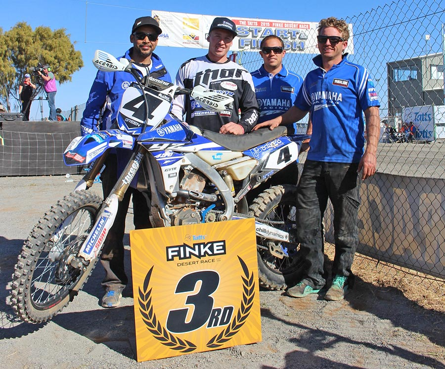 Active8 Yamaha celebrated third place with YZ450F rider Josh Green and team manager AJ Roberts