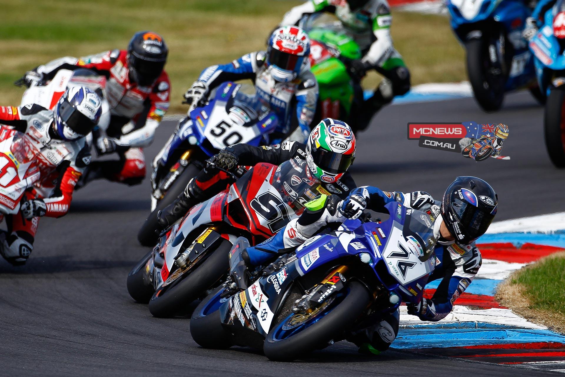 IDM Superbike Lausitzring 2015 - Max Neukirchner leads