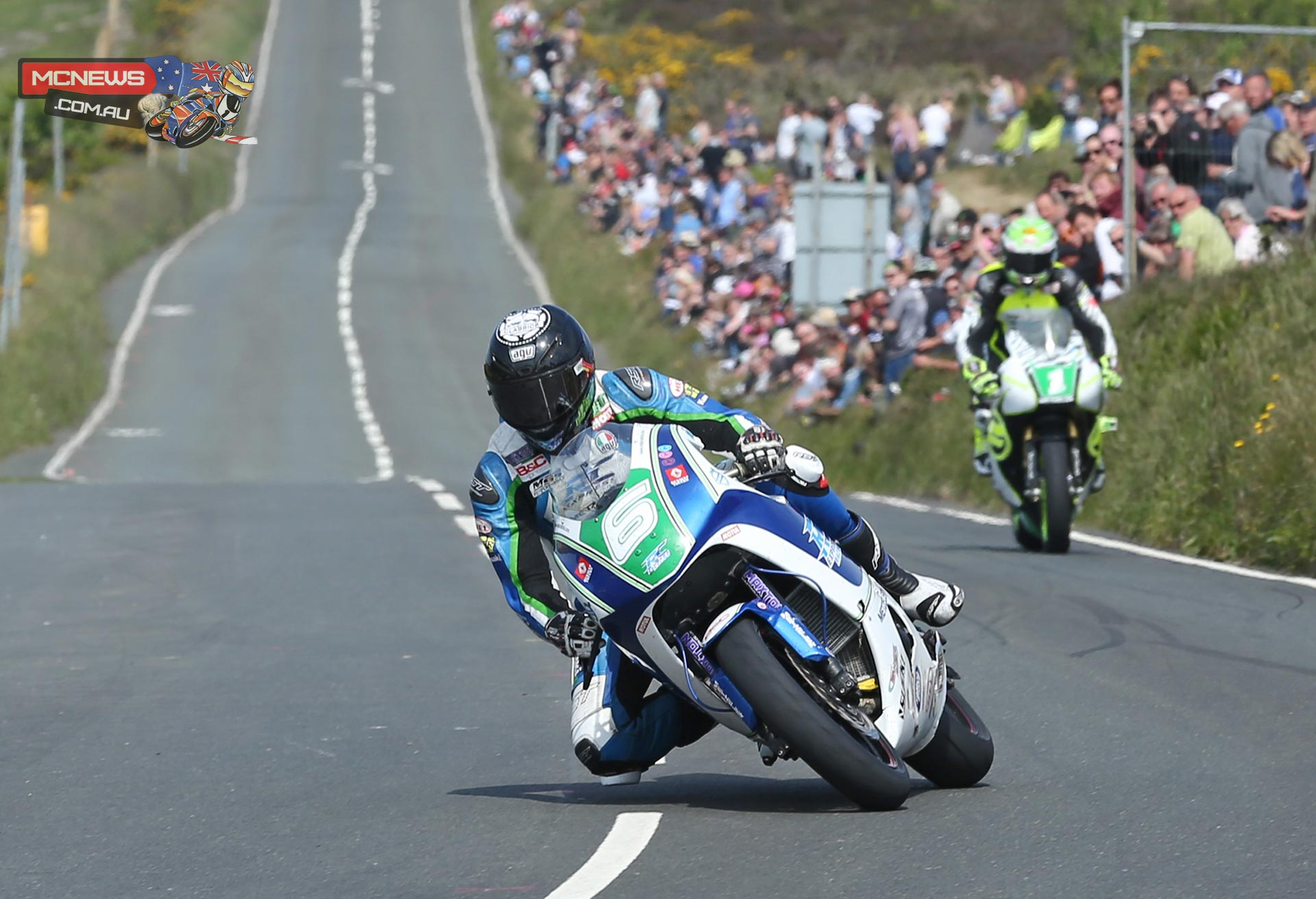 Ivan Lintin at Creg ny baa during Friday's Bennetts Lightweight TT. Credit Dave Kneen/Pacemaker Press Intl.