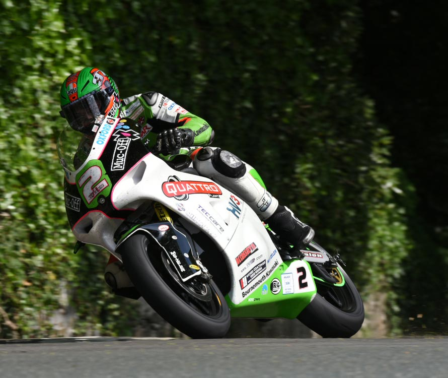 James Hillier set a new lap record on the Quattro Plant Muc-Off Kawasaki on his way to second place. Credit DaveKneale
