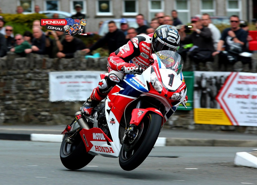 An opening lap of 131.850mph – the fastest ever from a standing start – gave John McGuinness a 1.2s lead over Ian Hutchinson