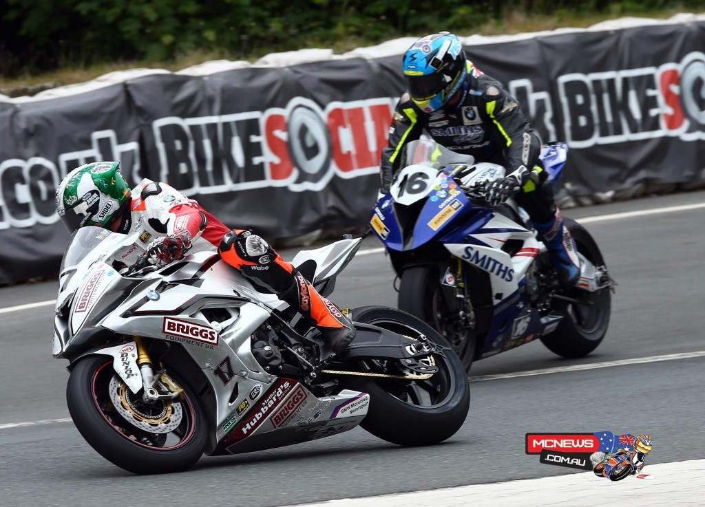 Peter Hickman and David Johnson tussled on the road, Hickman eventually finishing ninth while David Johnson finished ninth, but along the way became the fastest ever Australian at the TT with a 131.595mph lap